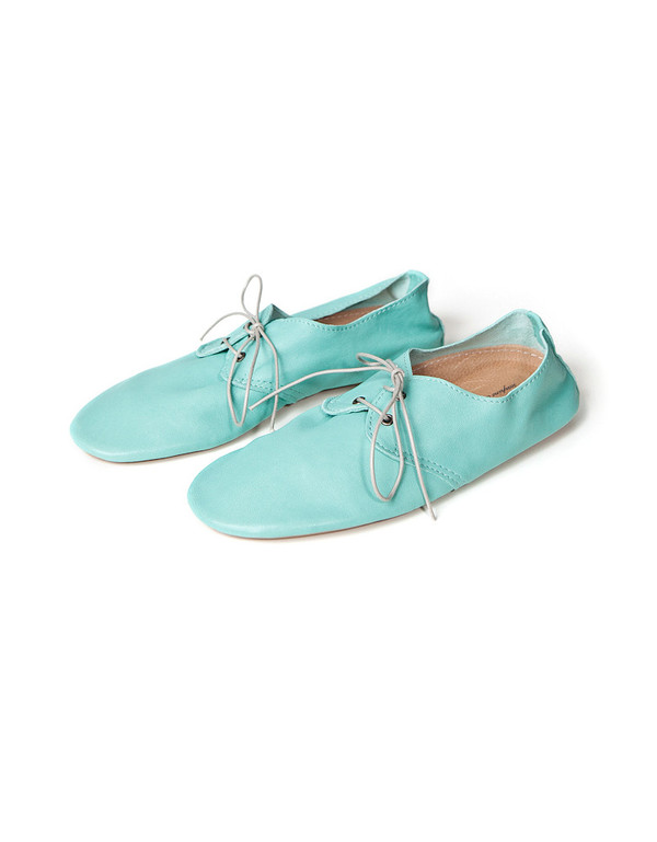 ANNIEL DERBY MINT LEATHER SHOE