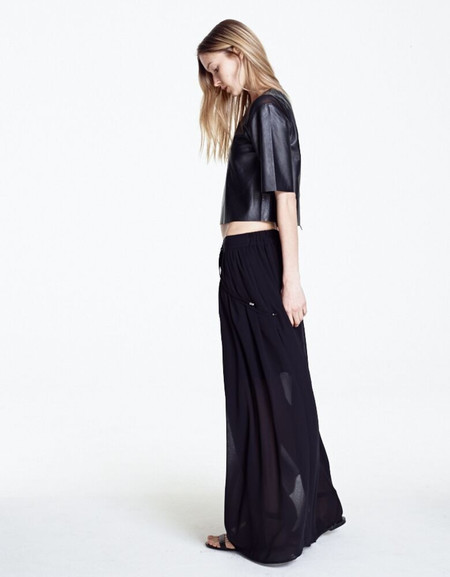 MORGAN CARPER OPPIA BLACK LONG SKIRT
