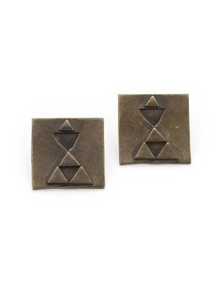 GRETCHEN JONES SQUARE EARRINGS