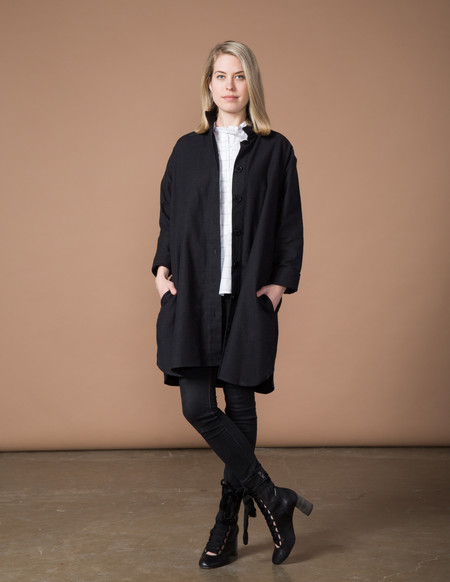 SBJ Austin Stacey Dress - Black Japanese Woven