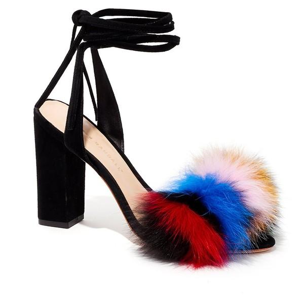 LOEFFLER RANDALL Nicolette Fur Sandal