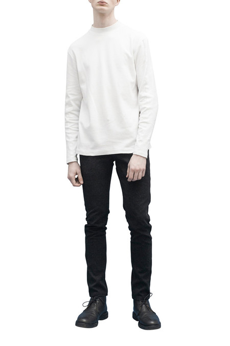 Men's JOURNAL Straight Jersey Turtle Neck | White