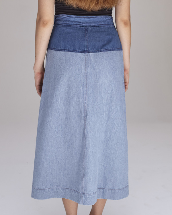 Caron Callahan Georgia Skirt in Blue Combo