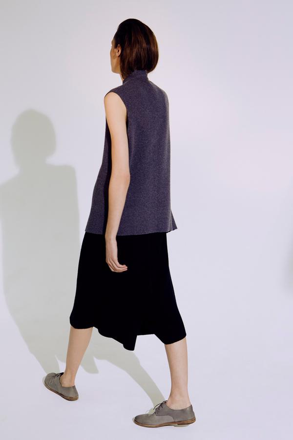 Black Knit Karam Trousers by Oyuna