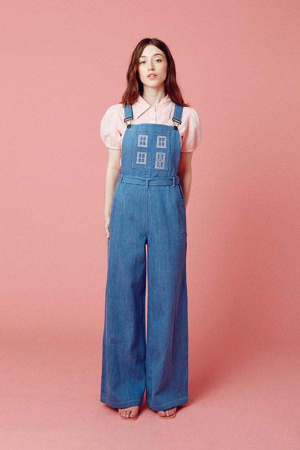 Samantha Pleet Home Sweet Home Overalls - Ultramarine