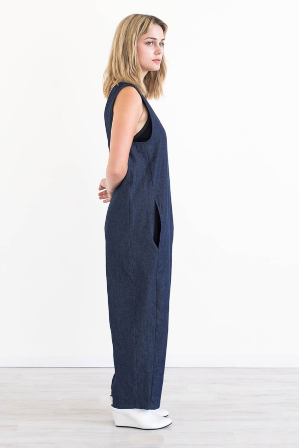 REIFhaus Lou Jumpsuit in Indigo Denim