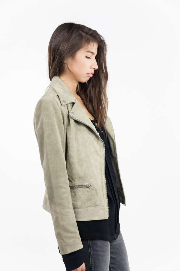 just female Direct Suede Jacket - Litchen Green