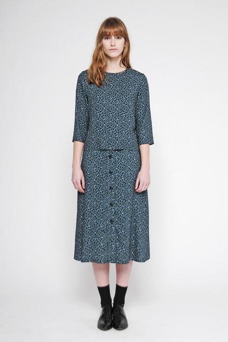 "Diarte ""Harriet"" Printed A-line Midi Skirt"