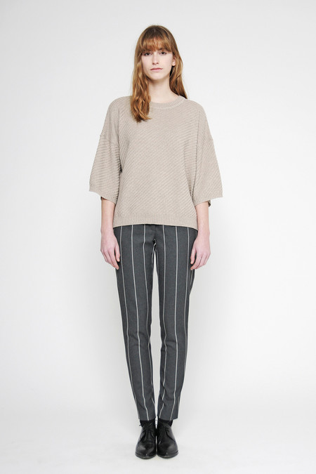 "Diarte ""Laura"" 3/4 Bell Sleeve Merino Sweater"
