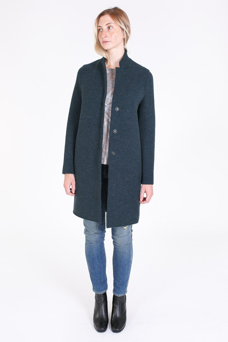 Harris Wharf London Cocoon coat in teal