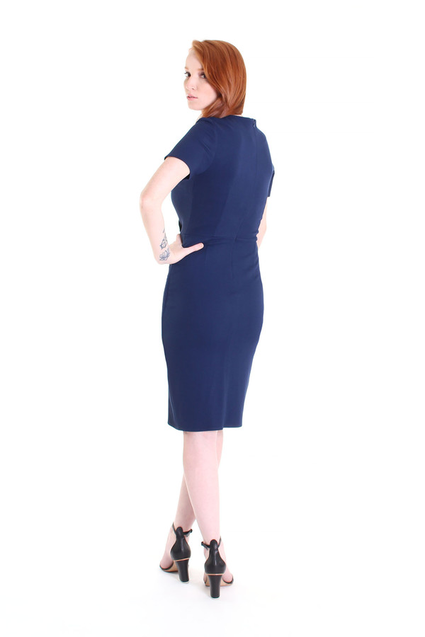 Obakki Corbett dress in dark blue