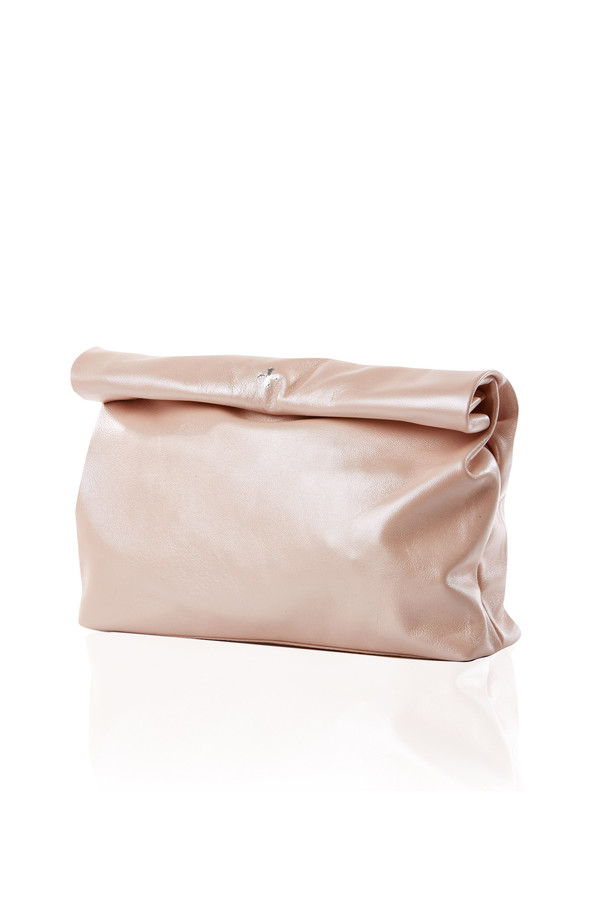 Marie Turnor lunch clutch in pearlized pink