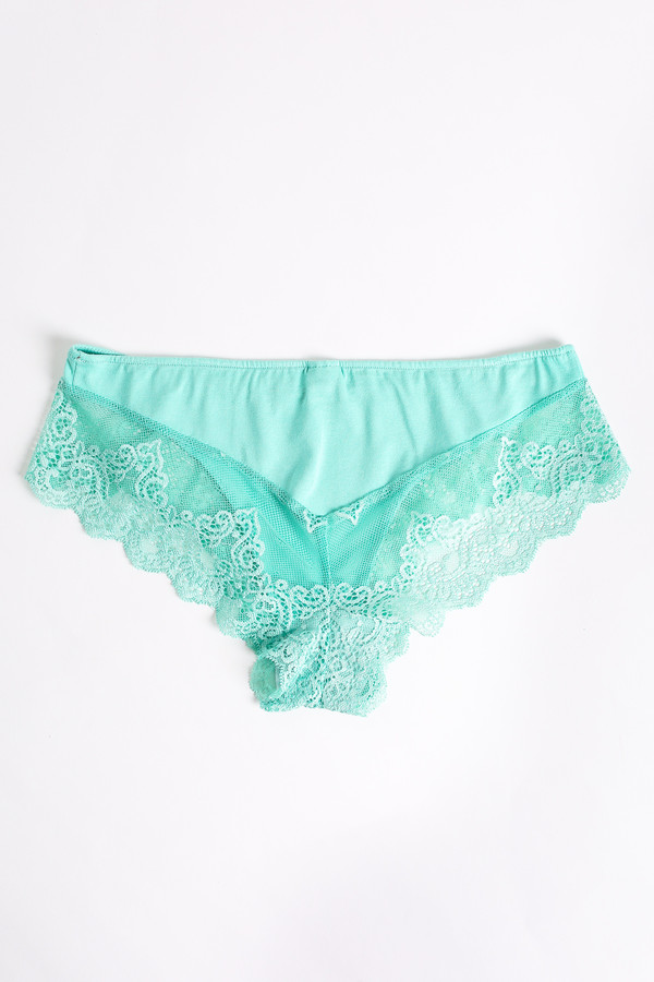 Only Hearts So fine hipster with lace back in minty