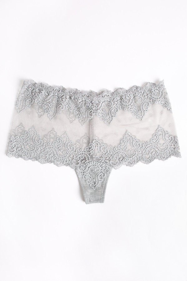 Only Hearts So fine lace cheeky brief in heather grey