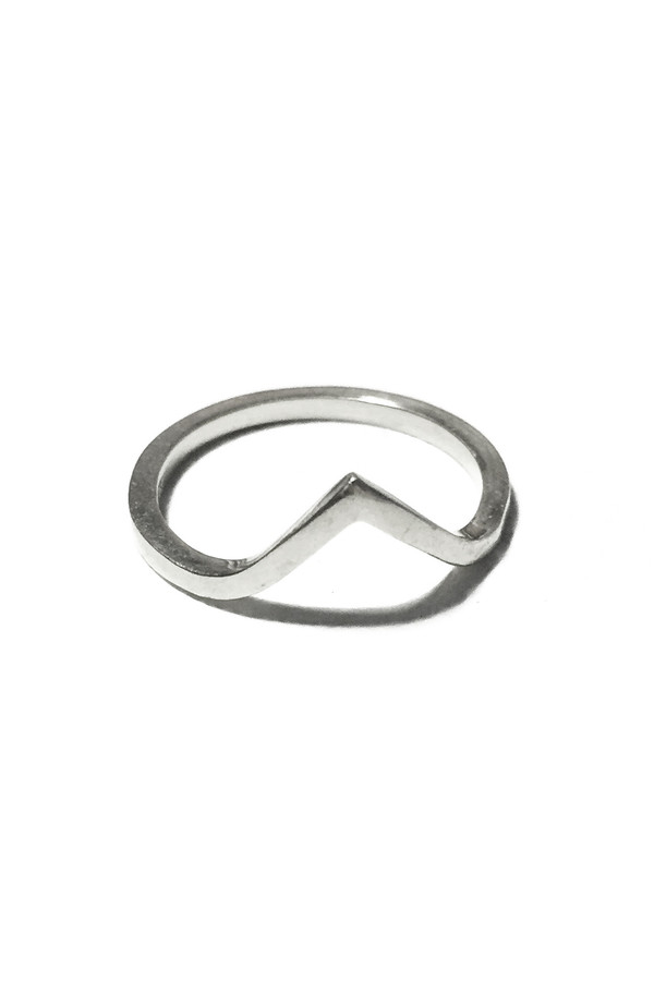 Emily Triplett Vee ring in silver