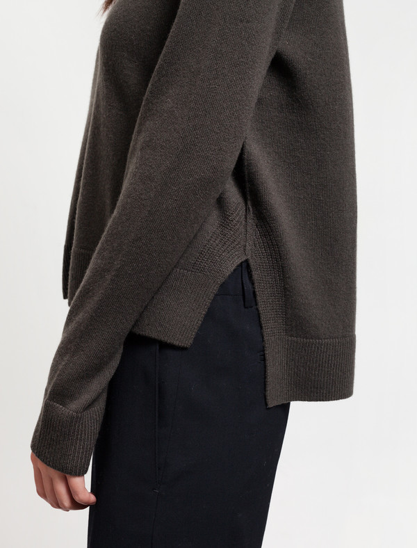 Organic by John Patrick Crop Pullover Dark Olive