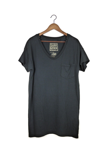 Skargorn #60 Tee Dress, Black Wash
