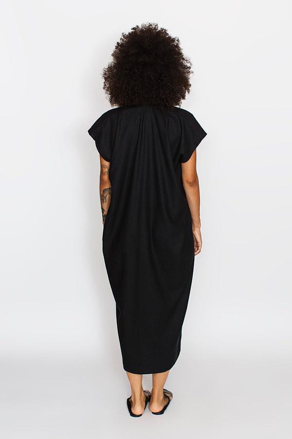 Miranda Bennett Everyday Dress, Oversized, Black Silk Noil
