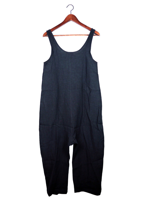 Gary Jumpsuit, Faded Black, Washed Linen