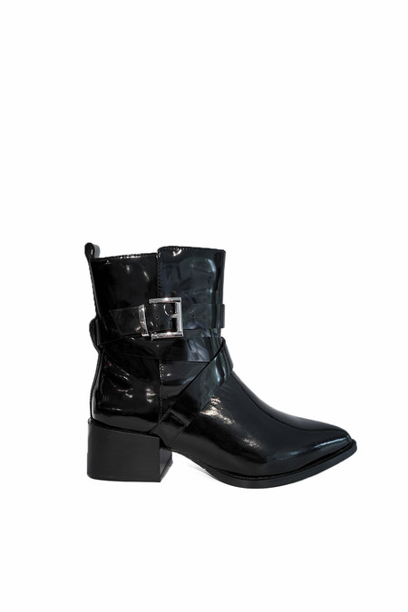 Sol Sana Bailey Boot | Black Patent