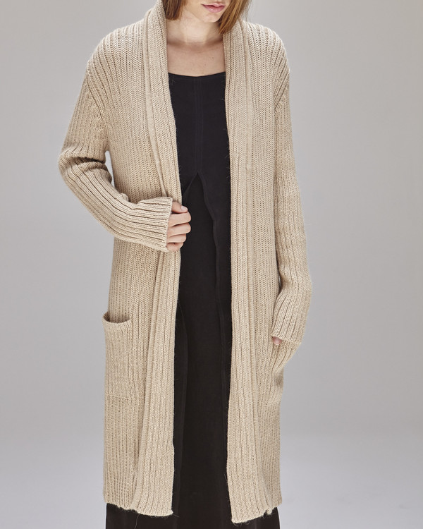 Shaina Mote Kimmel Alpaca Cardigan in Light Camel