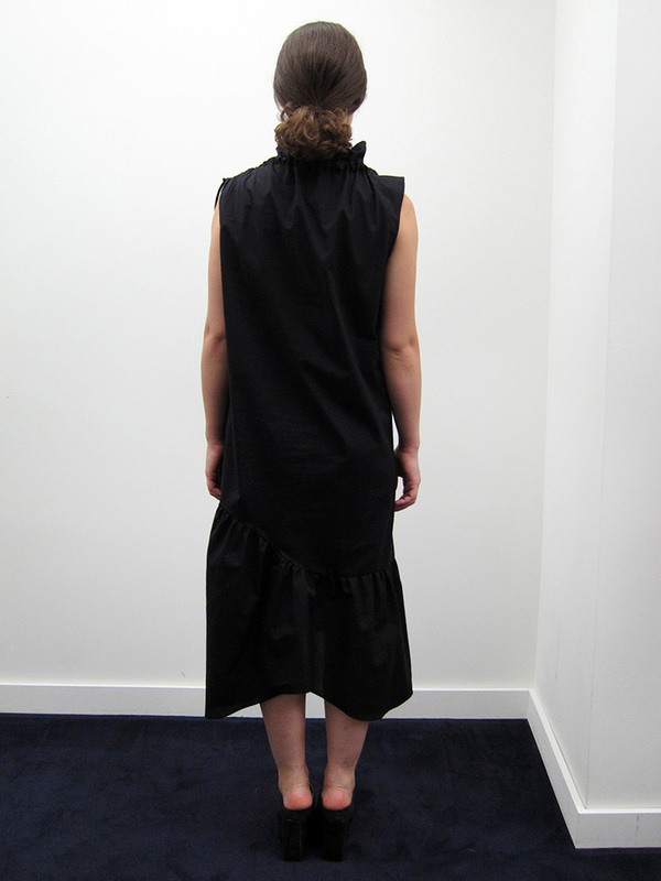 Kahle Cowl Neck Drawstring Dress