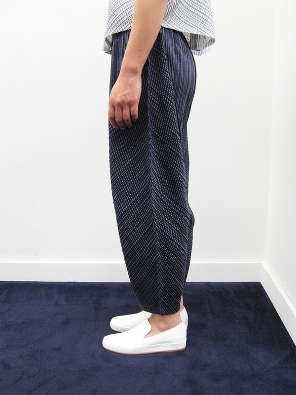 Issey Miyake Kasuri Stripe Pant - Navy