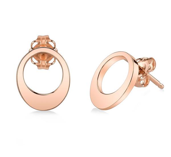 Small Egg Rose Gold Earrings by Gabriela Artigas