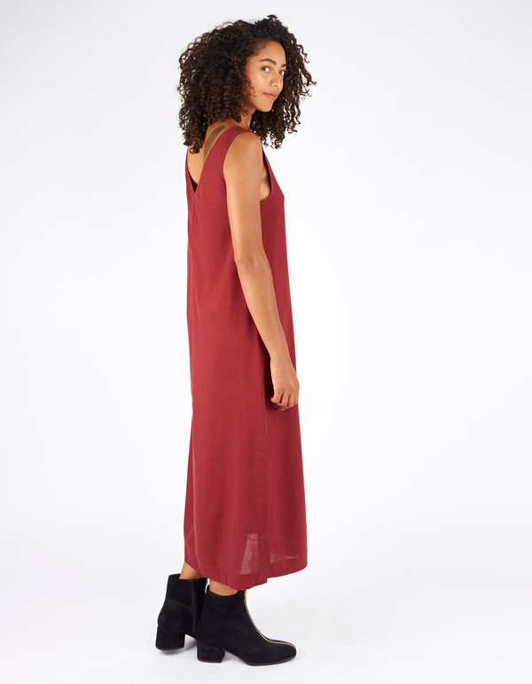 Assembly Label Motion Dress Rust
