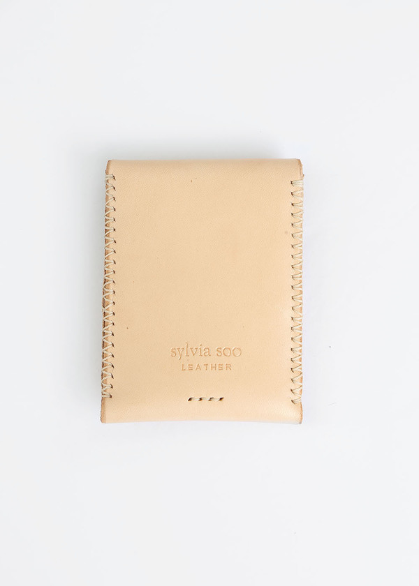 Sylvia Soo Leather Cross-Stitch Wallet
