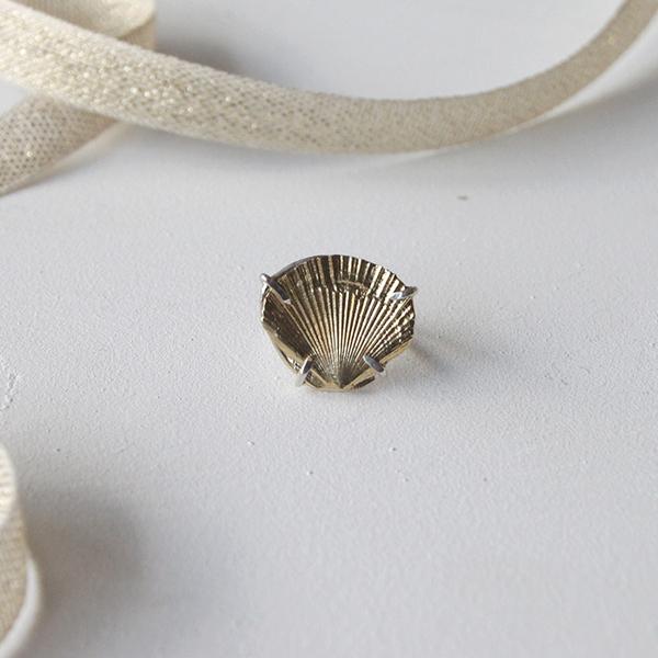 Beatrice Valenzuela  Brass Concha Ring