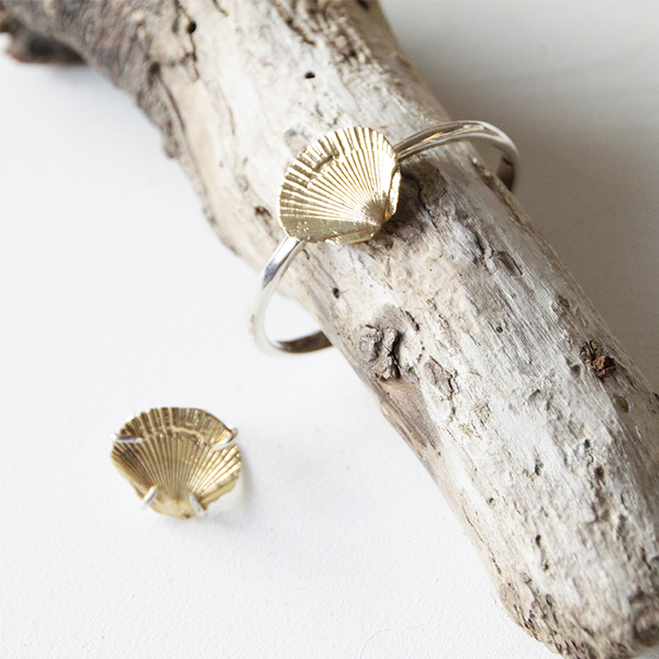 accessories Brass Concha Cuff