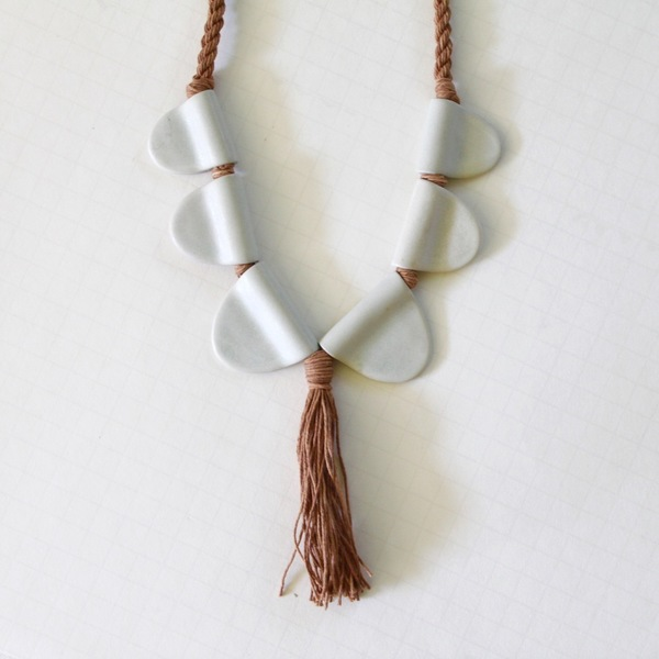 for her Blushed Porcelain Necklace
