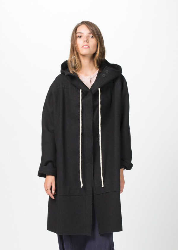 Sara Lanzi Drawstring Duffle Coat