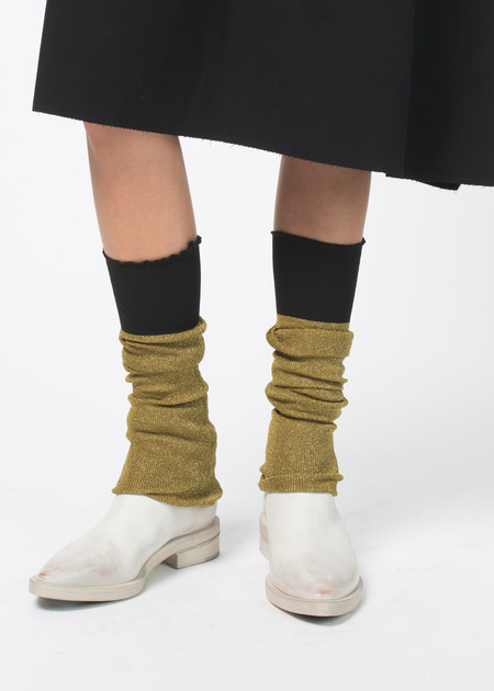 Sara Lanzi Knit Lurex Leg Warmers