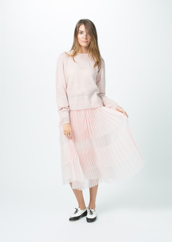 Sara Lanzi Striped Knit Pullover