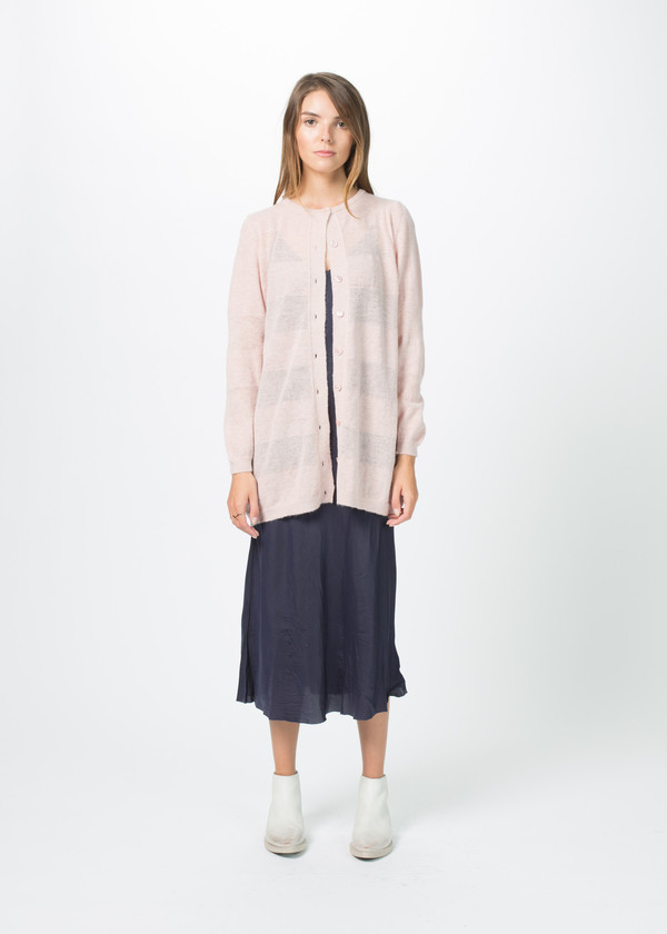 Sara Lanzi Striped Long Cardigan