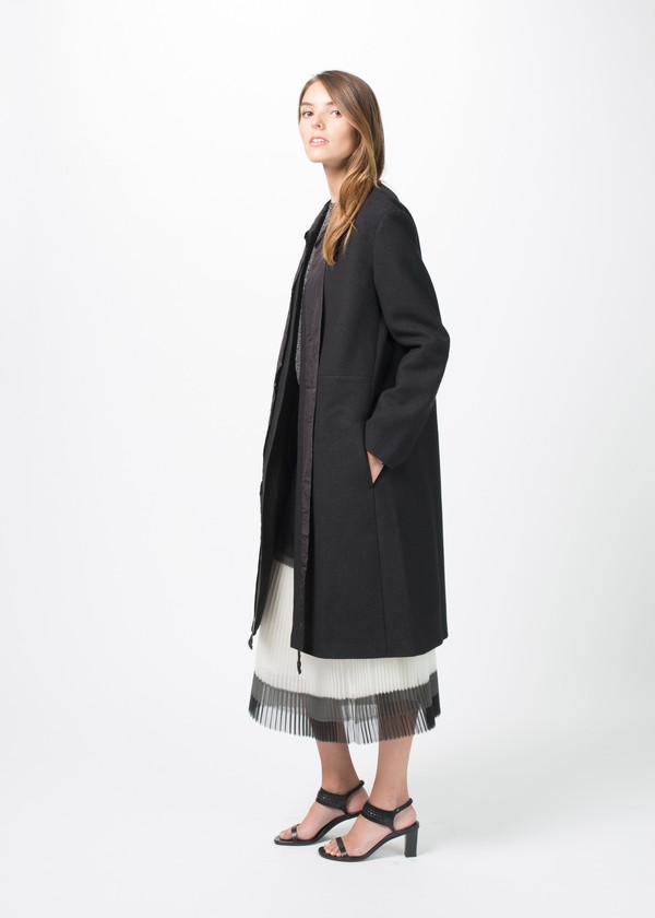 Sara Lanzi Tie Collar Coat