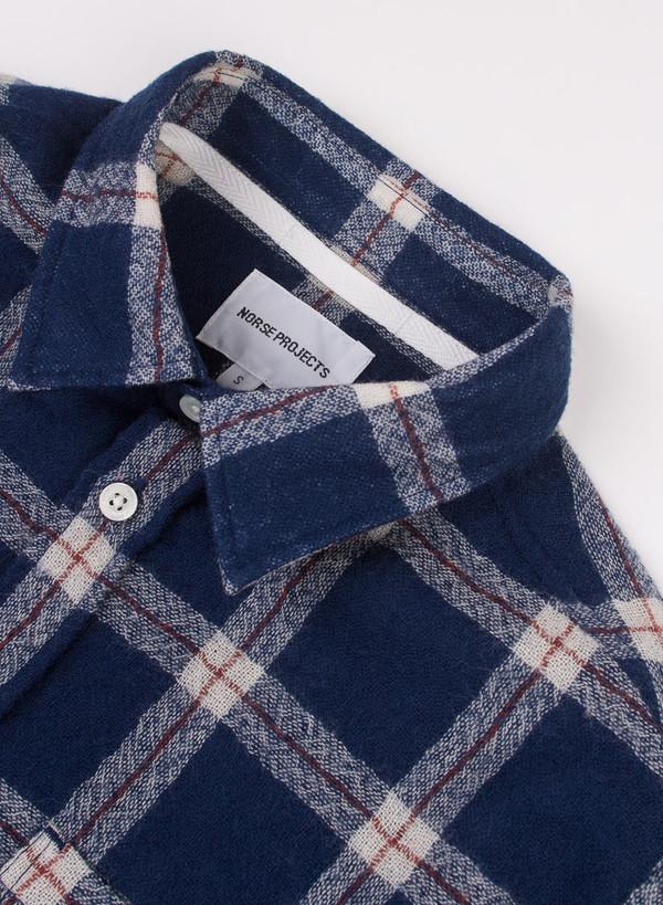 Men's Norse Projects Anton Loose Weave Gauze Cornflower Blue