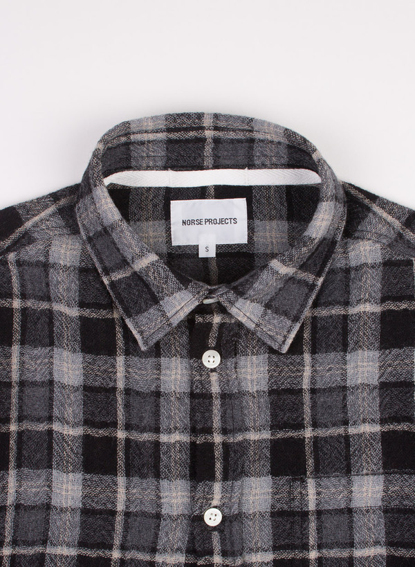 Men's Norse Projects Anton Loose Weave Gauze Mouse Grey