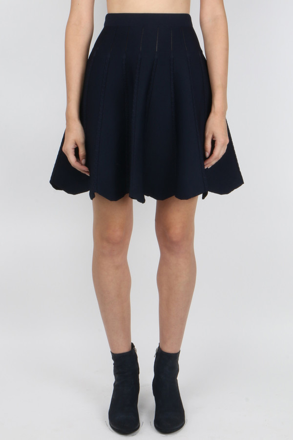 Jonathan Simkhai Cable Knit Flare Skirt