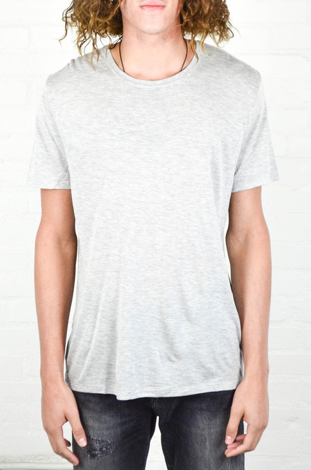 Men's ATM Anthony Thomas Melillo ATM Heather Grey Crew Neck Tee