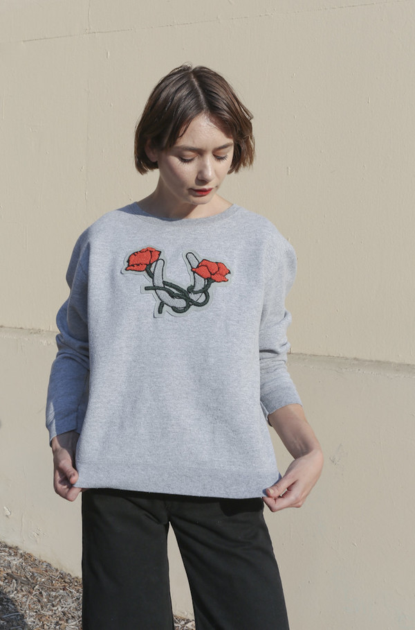 CARLEEN Lucky Sweatshirt in Vintage Grey
