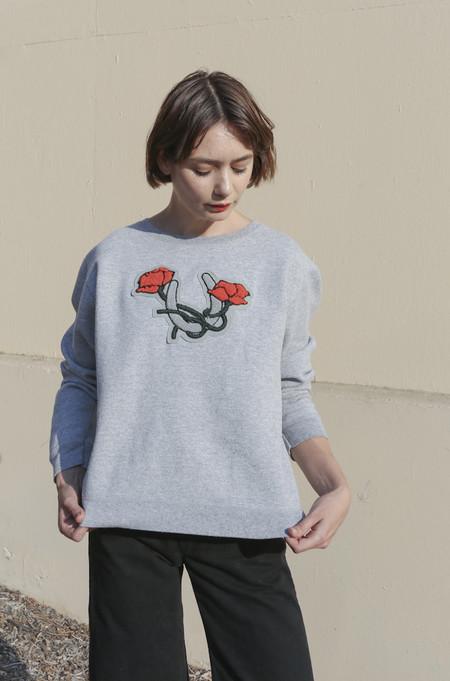 CARLEEN Lucky Sweatshirt in Vintage Grey