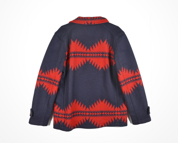PENDLETON, THOMAS KAY - ASHLAND JACQUARD COAT - RED/NAVY