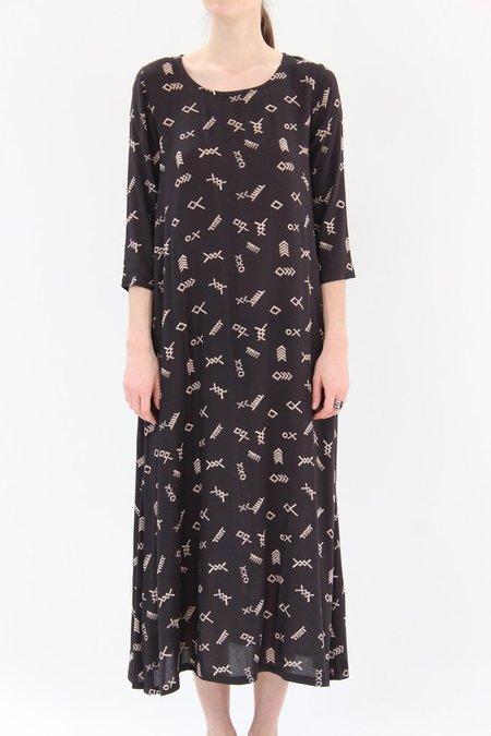 Osei Duro Nima Long Dress Black Jot
