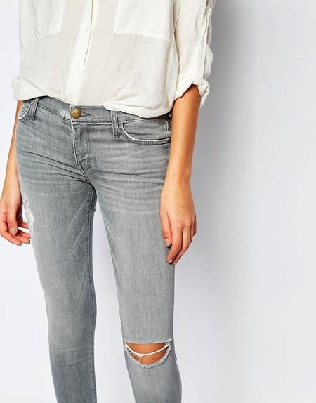 Current Elliott 'The Stiletto' Released Hem Skinny Jeans