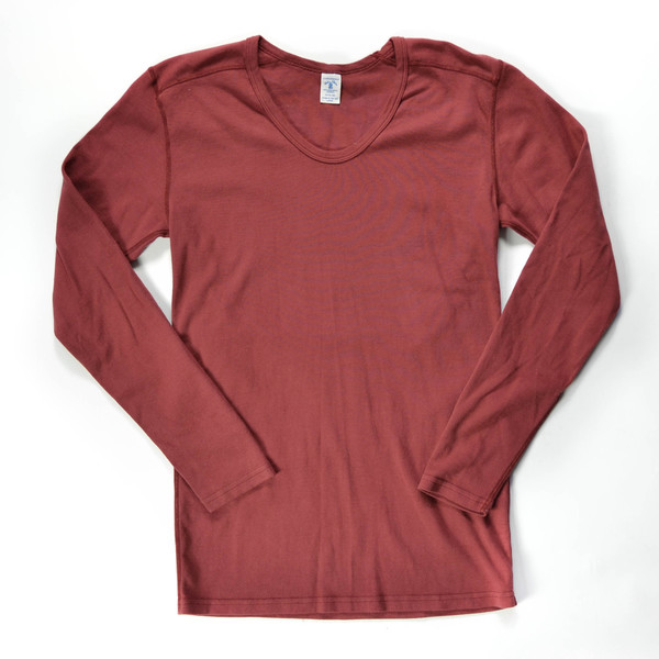 Velva Sheen Long Sleeve U-Neck Tee