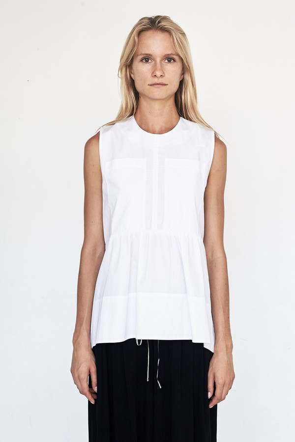 Fabiana Pigna Cotton Bessette Blouse - White