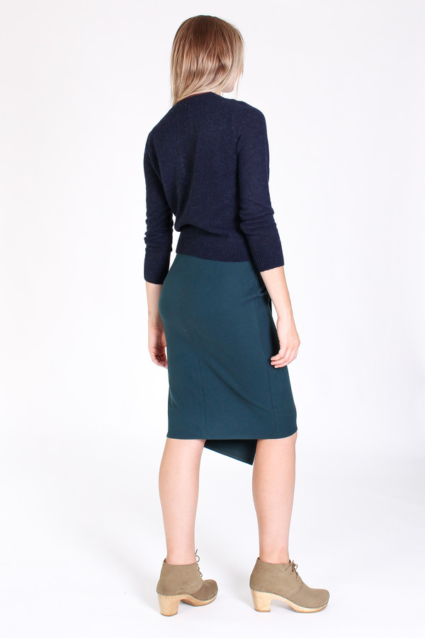 Obakki Nenna skirt in teal green